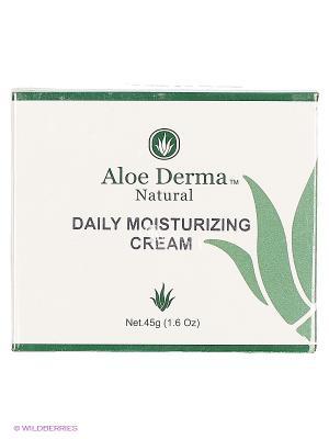 Крем увлажняющий для ежедневного применения Aloe Derma. Цвет: белый