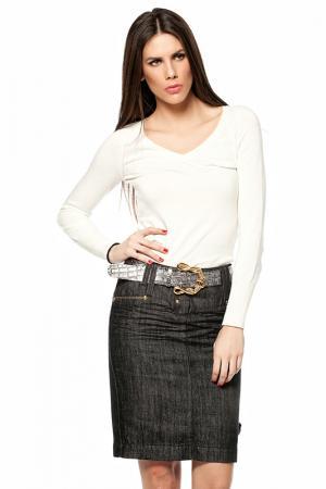 Джинсовая юбка Gizia. Цвет: серый