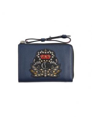 Бумажник CHRISTIAN LOUBOUTIN. Цвет: темно-синий