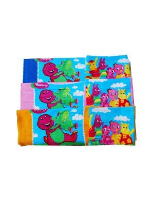 Набор полотенец 6 предметов 30х30 Акция. La Pastel. Цвет: синий, розовый, желтый