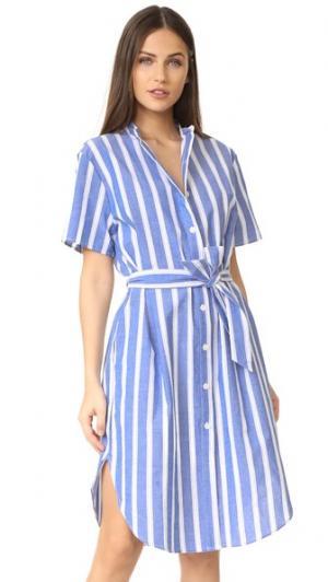 Платье Jenny RUKEN. Цвет: синяя/белая полоска