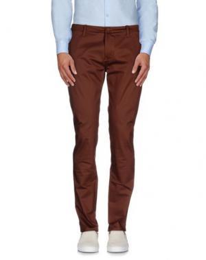 Повседневные брюки HōSIO. Цвет: коричневый