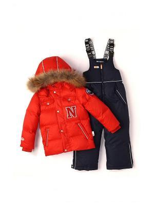 Комплект одежды NELS. Цвет: красный
