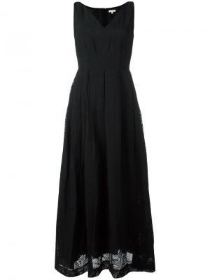 Платье макси с V-образным вырезом Bellerose. Цвет: чёрный