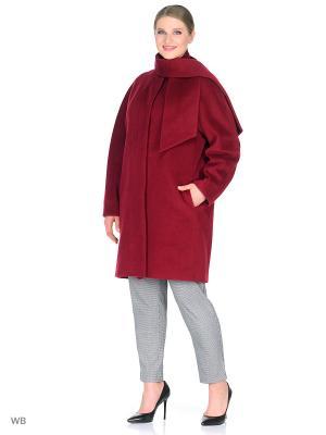 Пальто FLI.RT. Цвет: бордовый