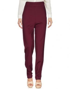 Повседневные брюки FRANKIE MORELLO. Цвет: баклажанный