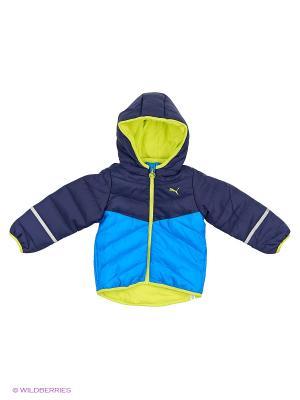 Куртка Infant Padded Jacket Puma. Цвет: голубой, желтый, синий