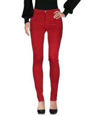 Повседневные брюки FAIRLY. Цвет: кирпично-красный