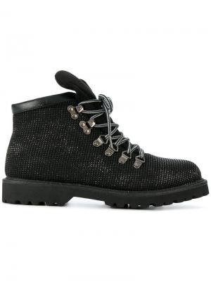 Ботинки на шнуровке с блестками Twin-Set. Цвет: чёрный