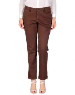Повседневные брюки RE-HASH. Цвет: какао