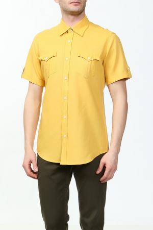 Рубашка Karflorens. Цвет: темно-желтый