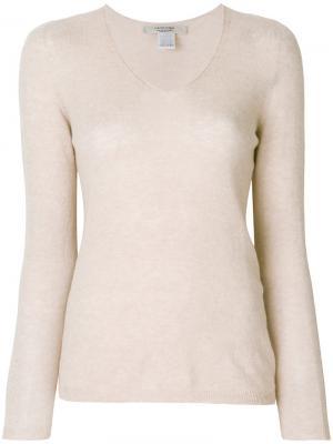 Легкий пуловер с длинными рукавами  La Fileria For Daniello D'aniello. Цвет: телесный