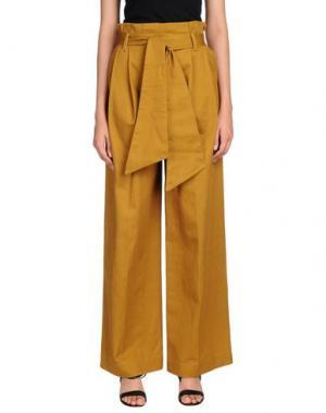 Повседневные брюки NINEMINUTES. Цвет: охра
