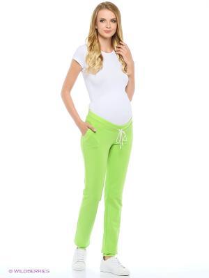 Брюки для беременных Hunny Mammy. Цвет: зеленый
