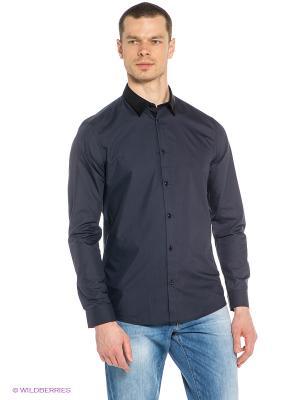 Рубашка New Look. Цвет: темно-синий, черный