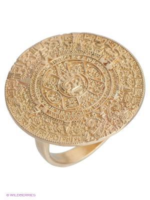 Кольцо Календарь Amorem. Цвет: золотистый