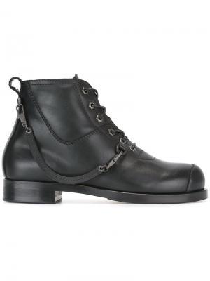 Ботинки на шнуровке Helmut Lang. Цвет: чёрный