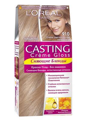 Стойкая краска-уход для волос Casting Creme Gloss без аммиака, оттенок 910, Очень светло-светло-ру L'Oreal Paris. Цвет: бежевый