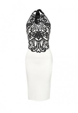 Платье Edge Street. Цвет: черно-белый