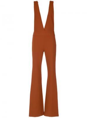 Deep neck jumpsuit Nk. Цвет: коричневый
