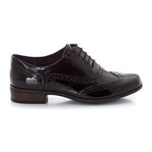 Ботинки-дерби из лакированной кожи  Hambloe Oak CLARKS. Цвет: телесный