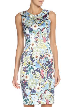 Летнее платье с цветочным принтом Stella Di Mare. Цвет: голубой
