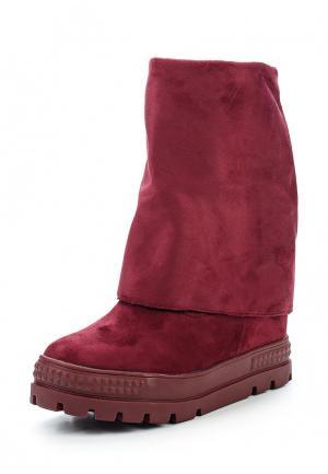 Сапоги Ideal Shoes. Цвет: бордовый