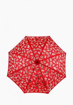 Зонт-трость Moschino. Цвет: красный