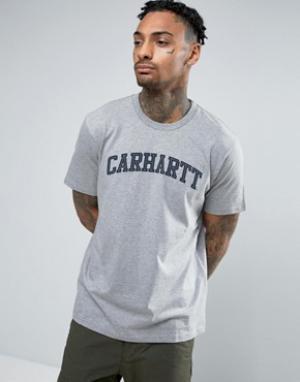 Carhartt Футболка WIP Yale. Цвет: серый