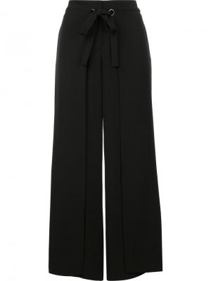 Широкие брюки Yigal Azrouel. Цвет: чёрный