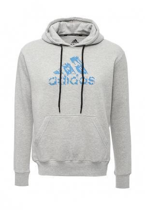 Худи adidas Combat. Цвет: серый