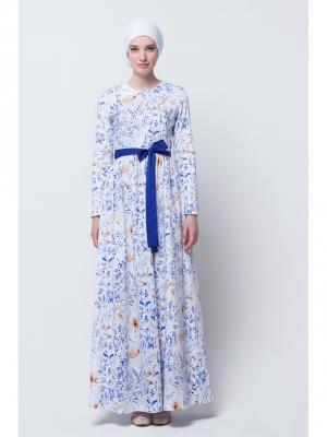 Платье макси хлопковое акварельное Bella kareema
