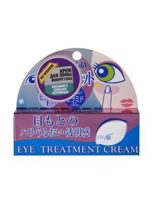 Крем для зоны вокруг глаз: увлажнение, сияние, упругость 20 гр, ROLAND. Цвет: розовый