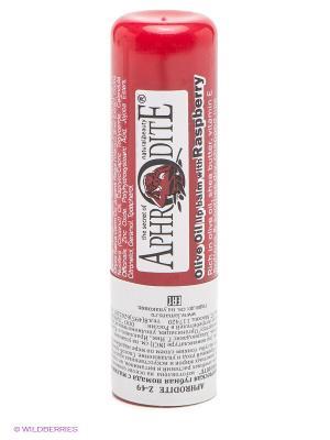 Защитный бальзам для губ с ароматом малины Aphrodite. Цвет: красный, прозрачный
