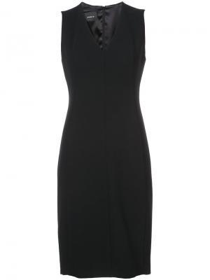 Платье с V-образным вырезом Akris. Цвет: чёрный