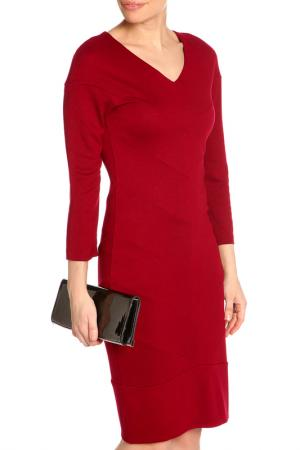 Платье трикотажное NATALIA PICARIELLO. Цвет: бордовый
