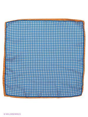 Платок-паше Troy collezione. Цвет: синий, оранжевый