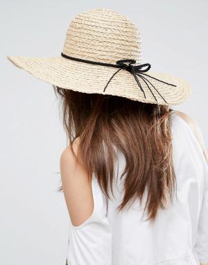 ASOS Соломенная шляпа с широкими полями. Цвет: коричневый