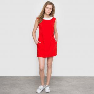 Платье с вырезом сзади MOLLY BRACKEN. Цвет: красный