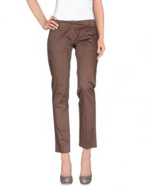 Повседневные брюки DIVINA. Цвет: светло-коричневый