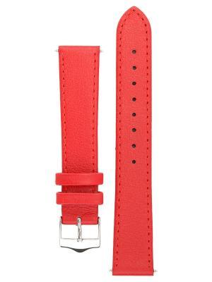 Гладкий ремешок для часов из кожи теленка с покрытием от царапин. Ширина 14 до 24 мм. Signature. Цвет: красный