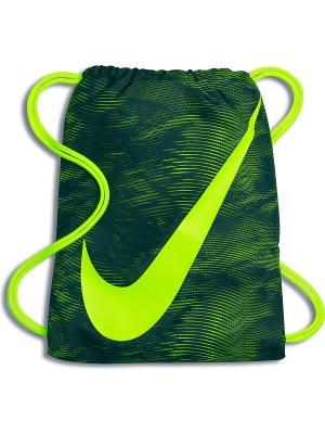 Мешок для обуви YA GRAPHIC GYMSACK Nike. Цвет: зеленый, светло-зеленый