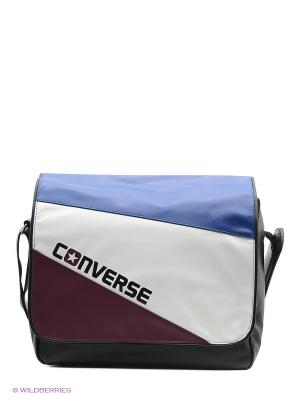 Сумка Flap Reporter Tricolore Converse. Цвет: синий