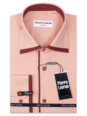 Рубашка Pierre Lauren. Цвет: оранжевый