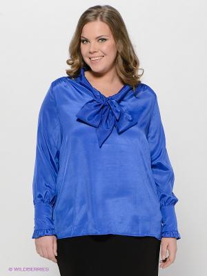 Блузка LE MONIQUE. Цвет: синий