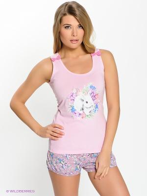 Пижама PELICAN. Цвет: розовый, лиловый