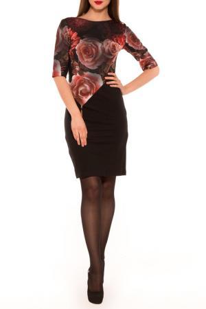 Платье Majaly. Цвет: черный, узор