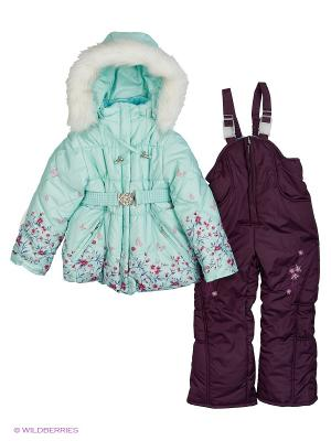 Комплект для девочки А129-15А белый 104р Rusland. Цвет: серо-зеленый, серебристый, серо-голубой