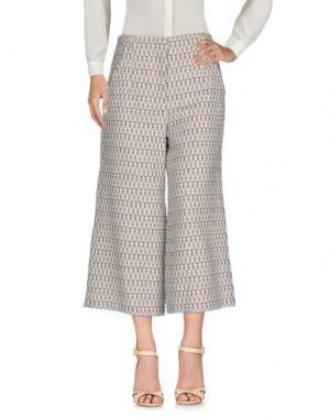 Повседневные брюки MIAHATAMI. Цвет: бежевый