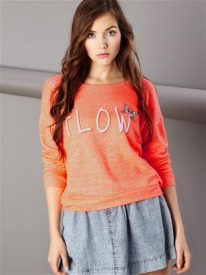 Свитшот Sinsay. Цвет: оранжевый